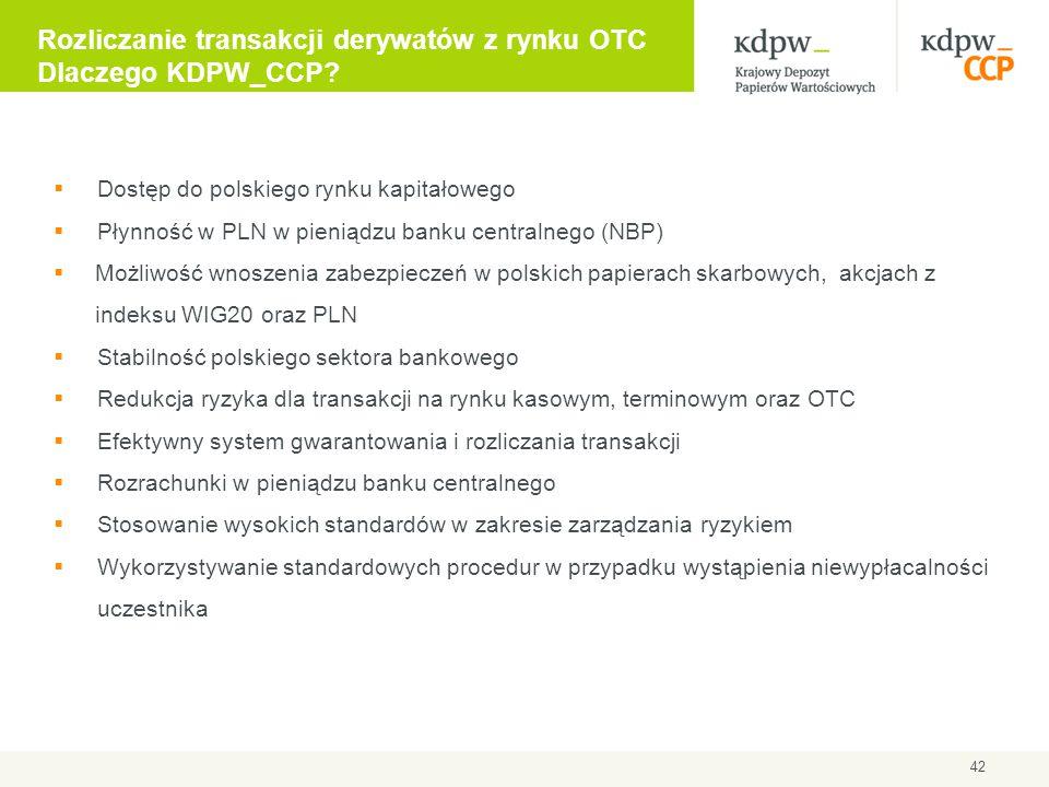  Dostęp do polskiego rynku kapitałowego  Płynność w PLN w pieniądzu banku centralnego (NBP)  Możliwość wnoszenia zabezpieczeń w polskich papierach