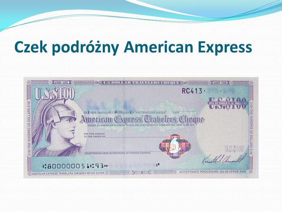 Czek podróżny American Express