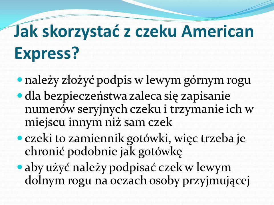 Jak skorzystać z czeku American Express.