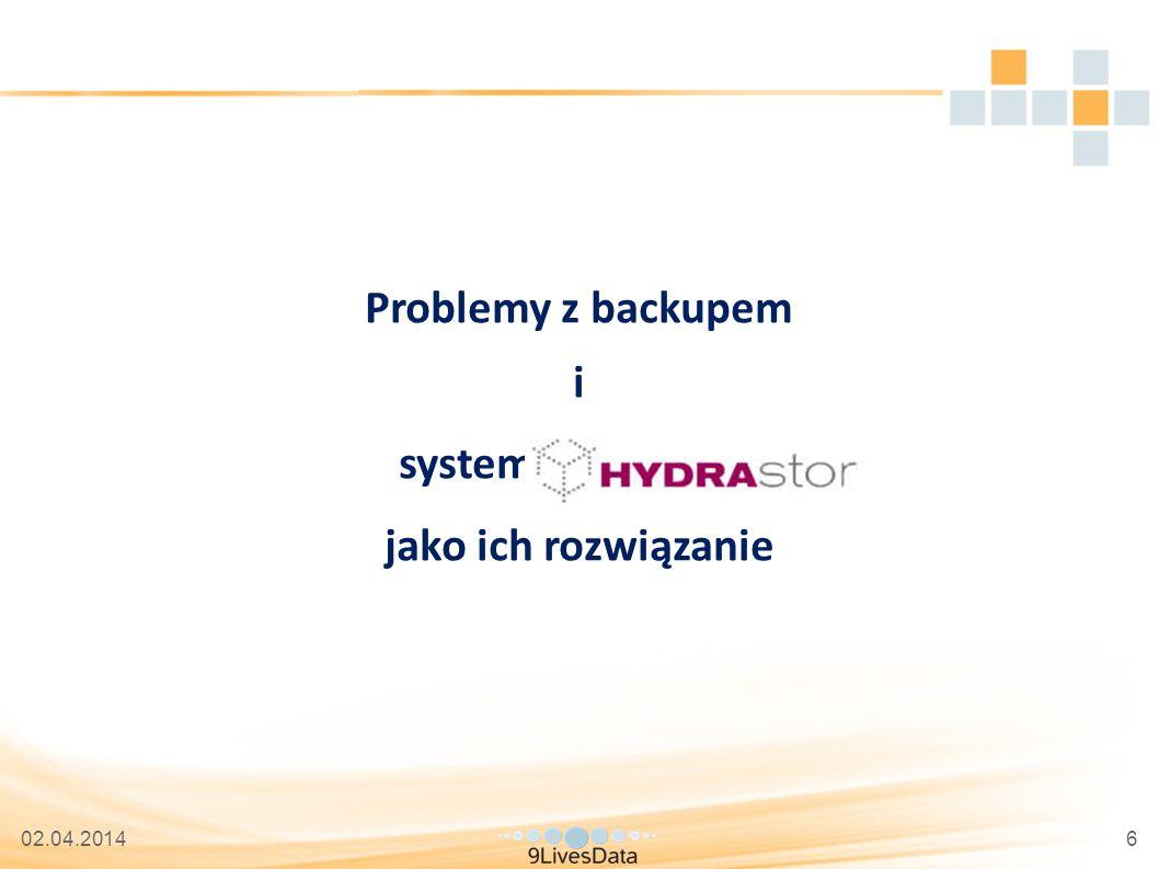 02.04.20146 Problemy z backupem i system HYDRAstor jako ich rozwiązanie