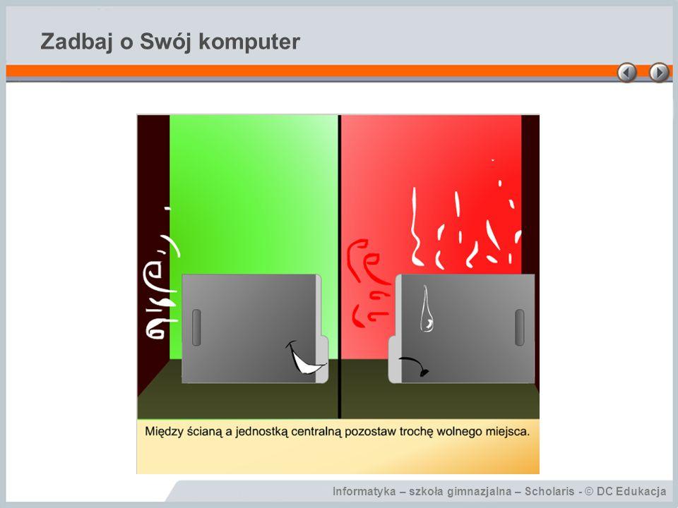 Informatyka – szkoła gimnazjalna – Scholaris - © DC Edukacja Zadbaj o Swój komputer