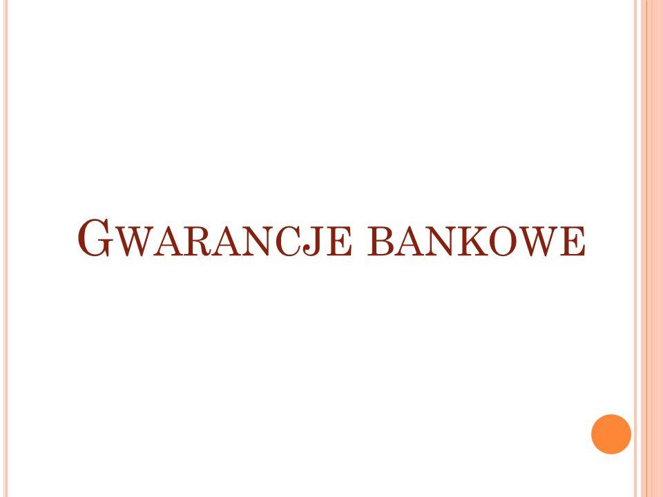 G WARANCJE BANKOWE