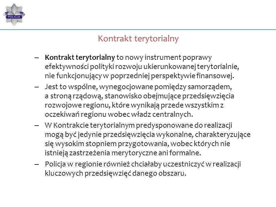 Kontrakt terytorialny – Kontrakt terytorialny to nowy instrument poprawy efektywności polityki rozwoju ukierunkowanej terytorialnie, nie funkcjonujący