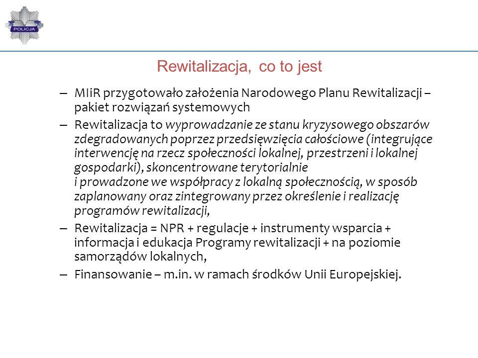 Rewitalizacja, co to jest – MIiR przygotowało założenia Narodowego Planu Rewitalizacji – pakiet rozwiązań systemowych – Rewitalizacja to wyprowadzanie