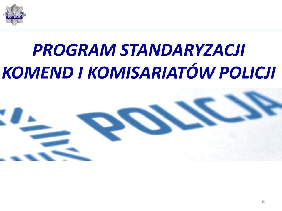 66 PROGRAM STANDARYZACJI KOMEND I KOMISARIATÓW POLICJI