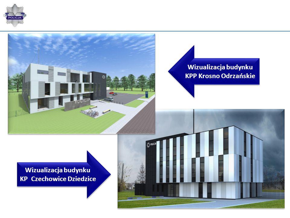 Wizualizacja budynku KPP Krosno Odrzańskie Wizualizacja budynku KP Czechowice Dziedzice