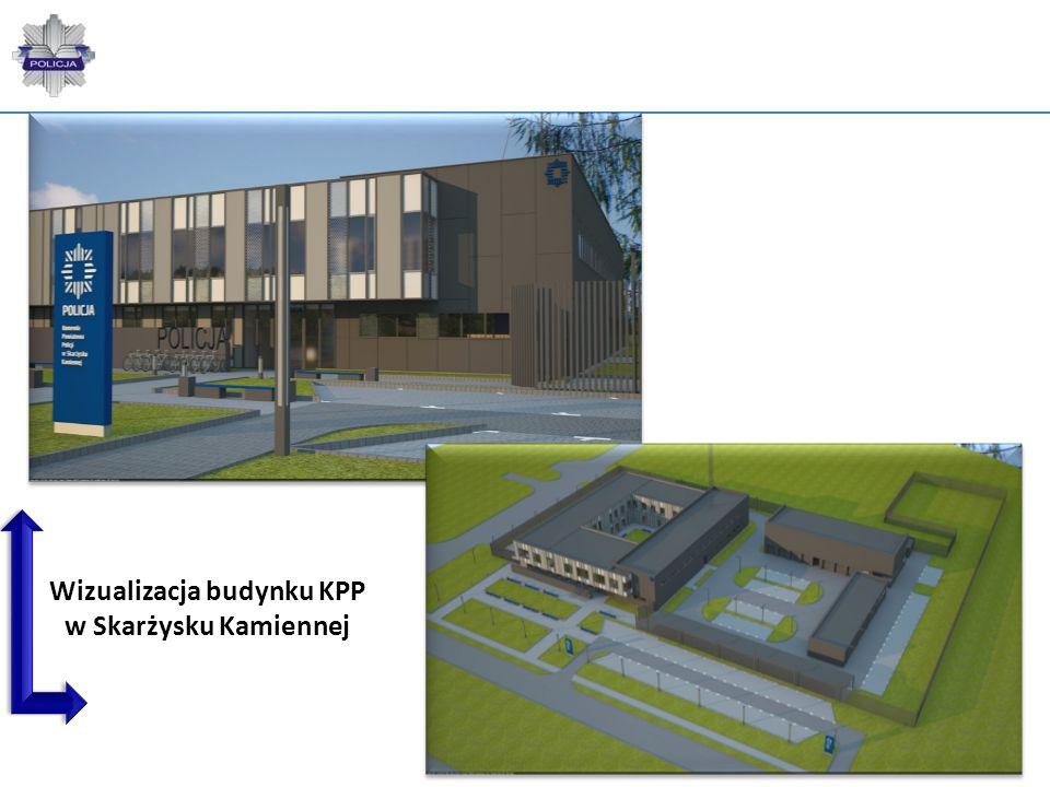 70 Wizualizacja budynku KPP w Skarżysku Kamiennej
