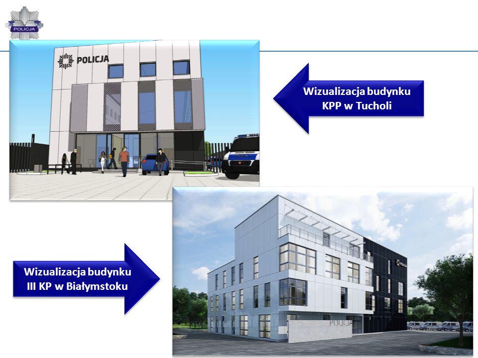 Wizualizacja budynku KPP w Tucholi Wizualizacja budynku III KP w Białymstoku