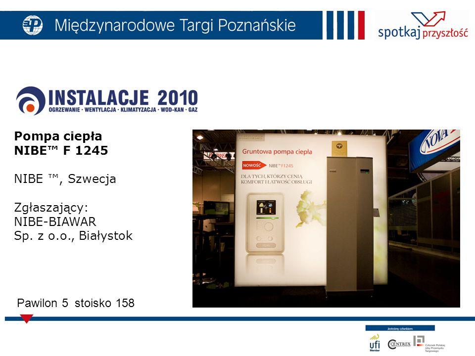 Pompa ciepła NIBE™ F 1245 NIBE ™, Szwecja Zgłaszający: NIBE-BIAWAR Sp.