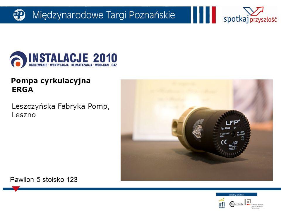 Pompa cyrkulacyjna ERGA Leszczyńska Fabryka Pomp, Leszno Pawilon 5 stoisko 123