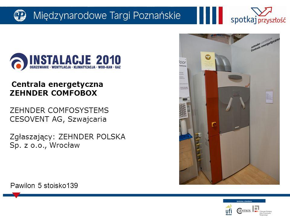 Centrala energetyczna ZEHNDER COMFOBOX ZEHNDER COMFOSYSTEMS CESOVENT AG, Szwajcaria Zgłaszający: ZEHNDER POLSKA Sp.
