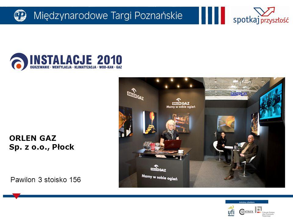 ORLEN GAZ Sp. z o.o., Płock Pawilon 3 stoisko 156