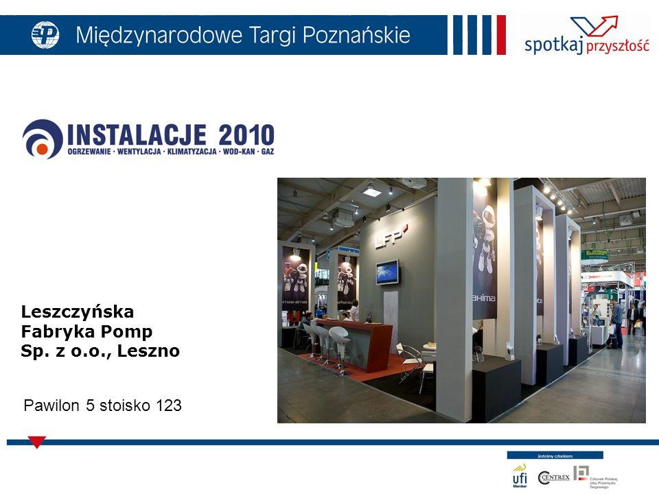 Leszczyńska Fabryka Pomp Sp. z o.o., Leszno Pawilon 5 stoisko 123