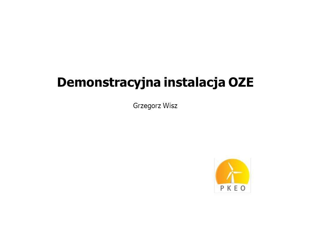 Demonstracyjna instalacja OZE Grzegorz Wisz