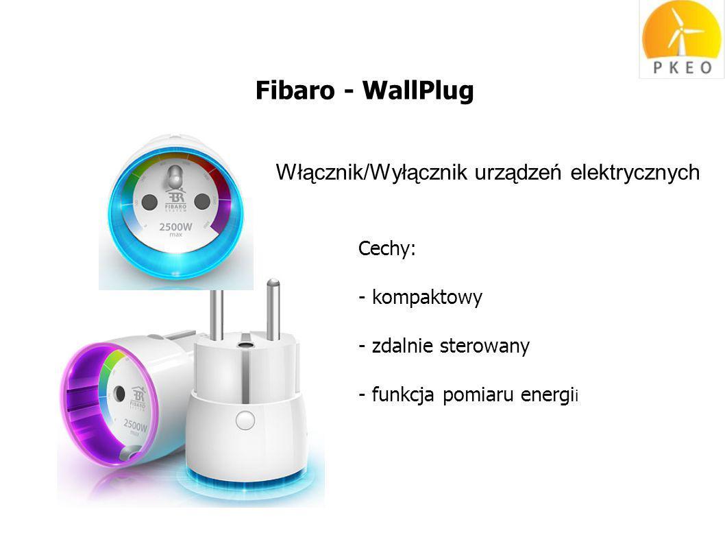 Fibaro - WallPlug Włącznik/Wyłącznik urządzeń elektrycznych Cechy: - kompaktowy - zdalnie sterowany - funkcja pomiaru energi i