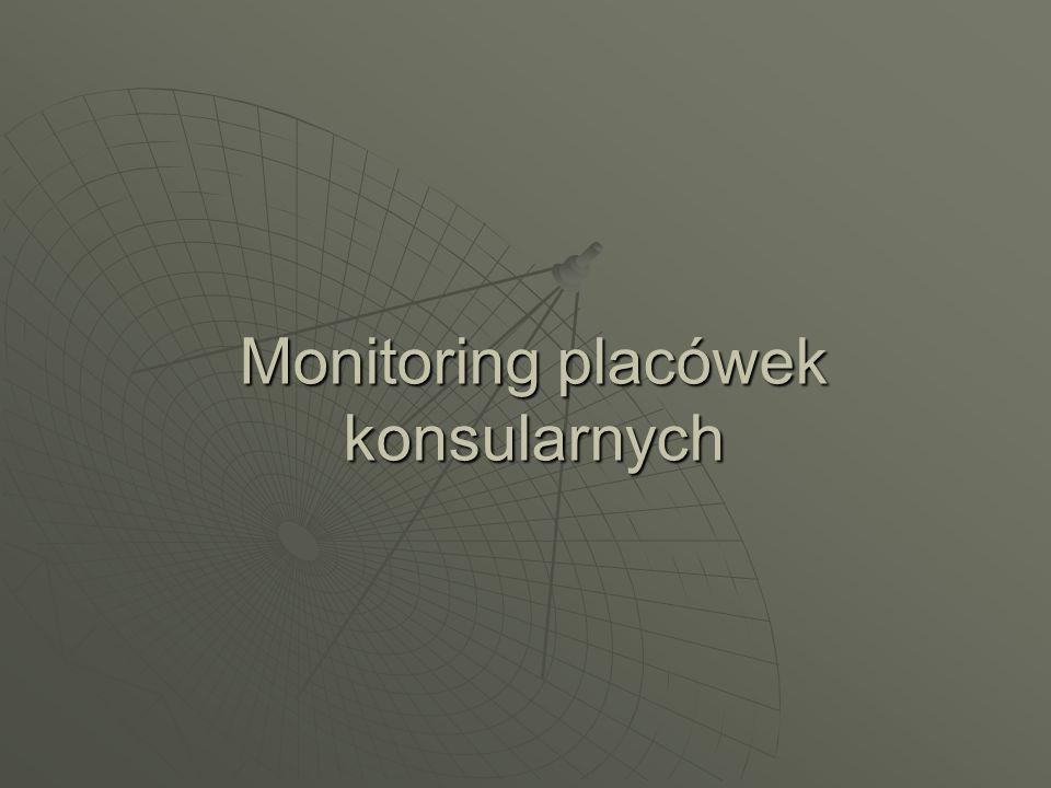 Monitoring placówek konsularnych
