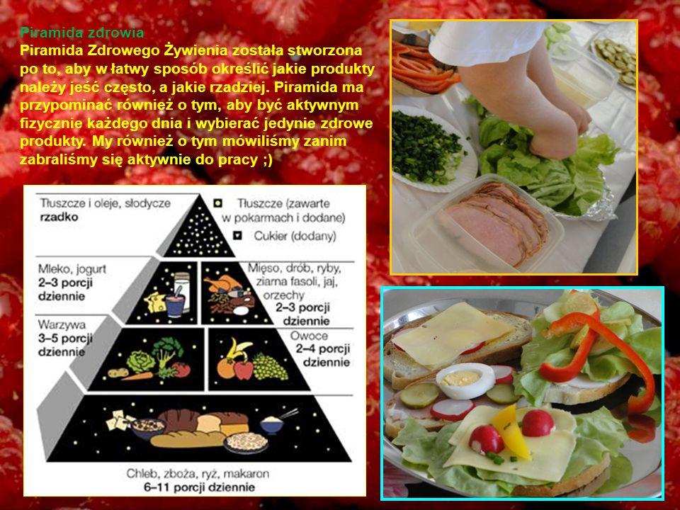 Piramida zdrowia Piramida Zdrowego Żywienia została stworzona po to, aby w łatwy sposób określić jakie produkty należy jeść często, a jakie rzadziej.
