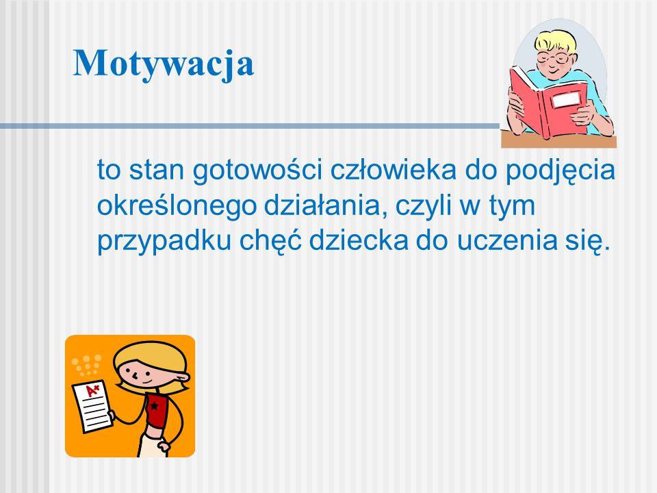 Motywacja Może to być zmywanie naczyń, posprzątanie pokoju, nauka do egzaminu, nauka słówek z angielskiego, inna dowolna czynność.