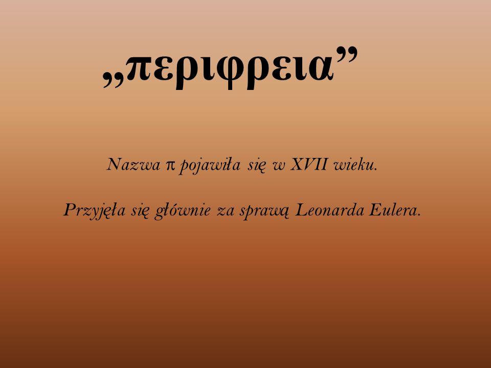 """""""περιφρεια Nazwa π pojawi ł a si ę w XVII wieku."""