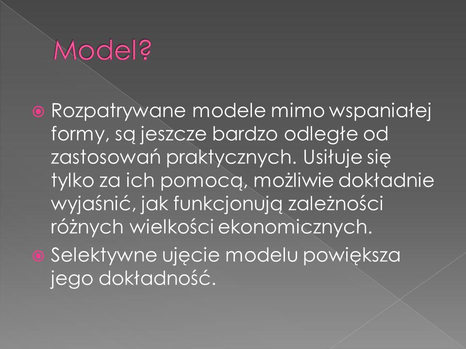  Rozpatrywane modele mimo wspaniałej formy, są jeszcze bardzo odległe od zastosowań praktycznych.