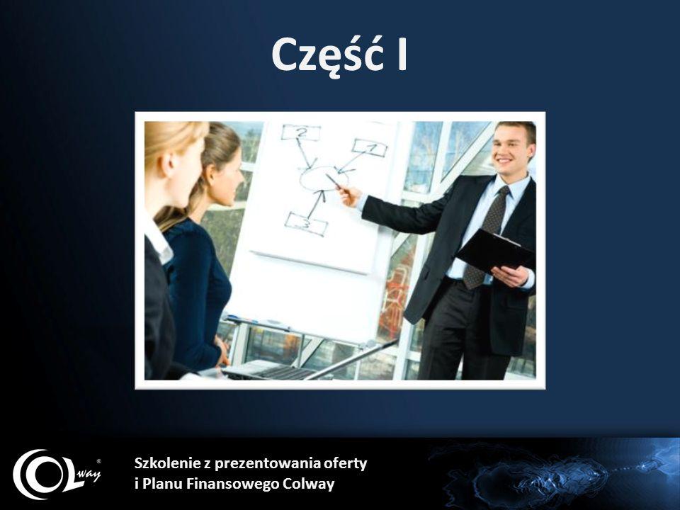 Część I Szkolenie z prezentowania oferty i Planu Finansowego Colway