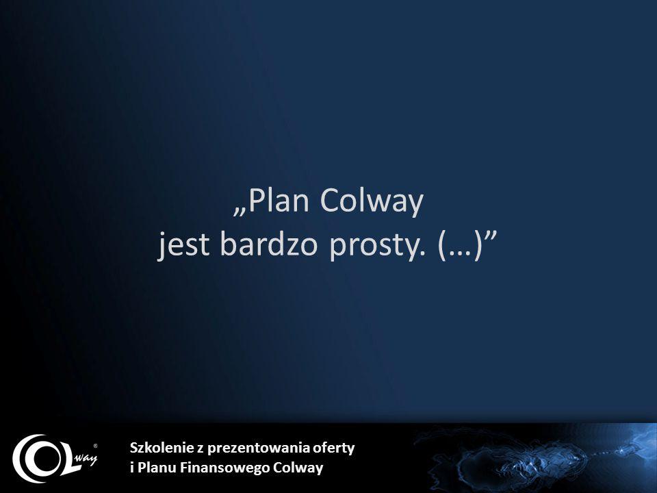 """Szkolenie z prezentowania oferty i Planu Finansowego Colway """"Plan Colway jest bardzo prosty. (…)"""""""