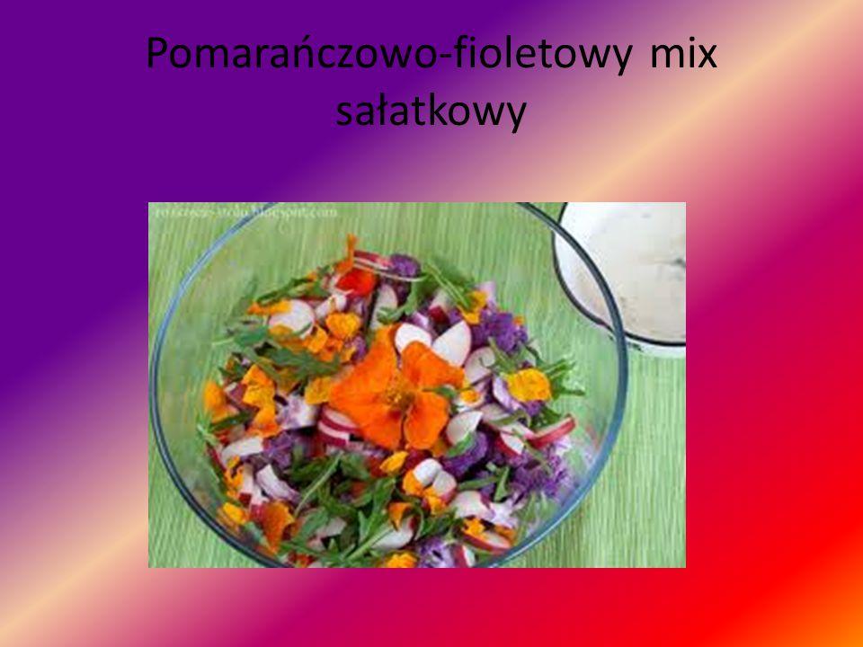 Pomarańczowo-fioletowy mix sałatkowy