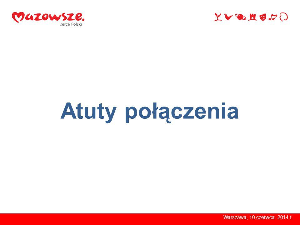 Warszawa, 10 czerwca 2014 r. Atuty połączenia