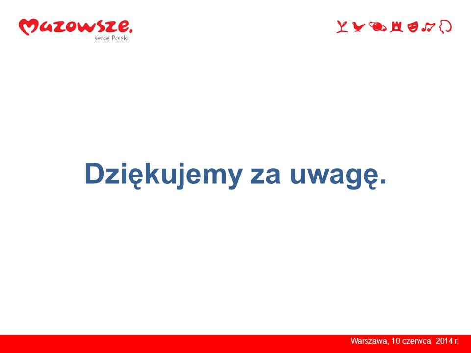 Warszawa, 10 czerwca 2014 r. Dziękujemy za uwagę.