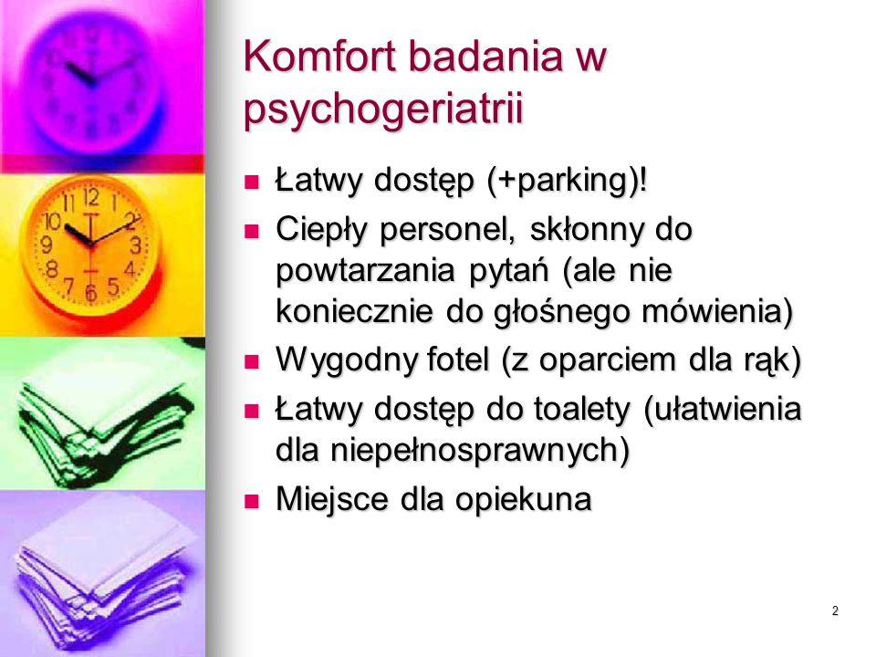 Zaburzenia psychiczne wieku podeszłego Andrzej Czernikiewicz