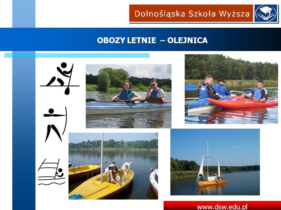 www.dsw.edu.pl OBOZY LETNIE – OLEJNICA