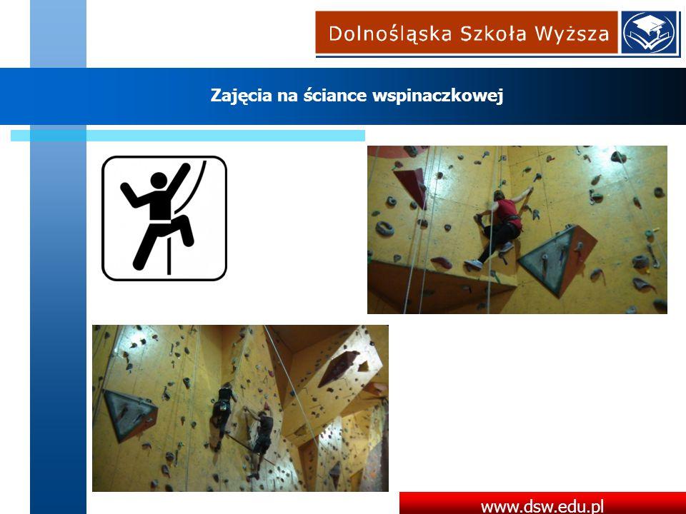 www.dsw.edu.pl Zajęcia na ściance wspinaczkowej
