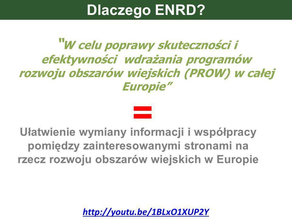 W celu poprawy skuteczności i efektywności wdrażania programów rozwoju obszarów wiejskich (PROW) w całej Europie Dlaczego ENRD.