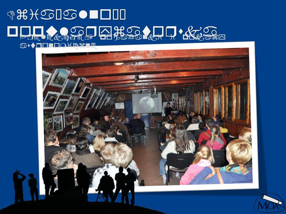 Działalność popularyzatorska Prelekcje, pogadanki i pokazy astronomiczne