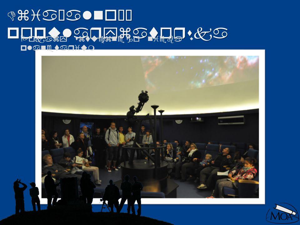 Działalność popularyzatorska Pokazy sztucznego nieba w planetarium