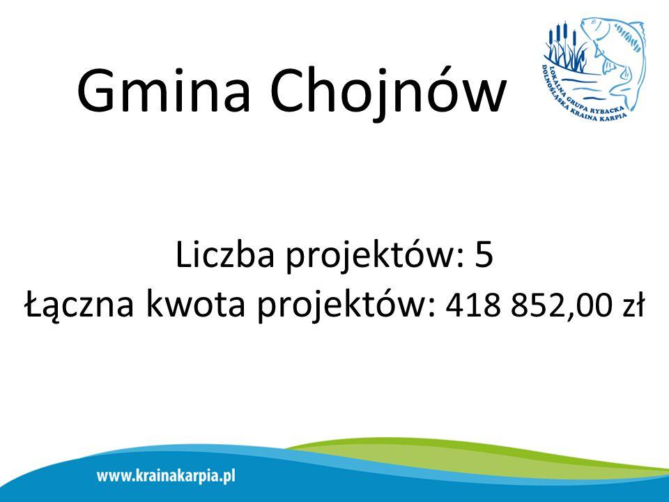 Gmina Bolesławiec Liczba projektów: 1 Łączna kwota projektów: 658 146,44 zł