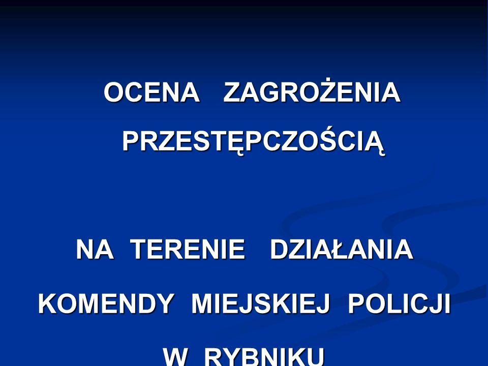 OCENA ZAGROŻENIA PRZESTĘPCZOŚCIĄ OCENA ZAGROŻENIA PRZESTĘPCZOŚCIĄ NA TERENIE DZIAŁANIA KOMENDY MIEJSKIEJ POLICJI W RYBNIKU