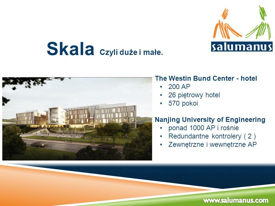 Skala Czyli duże i małe. The Westin Bund Center - hotel 200 AP 26 piętrowy hotel 570 pokoi Nanjing University of Engineering ponad 1000 AP i rośnie Re