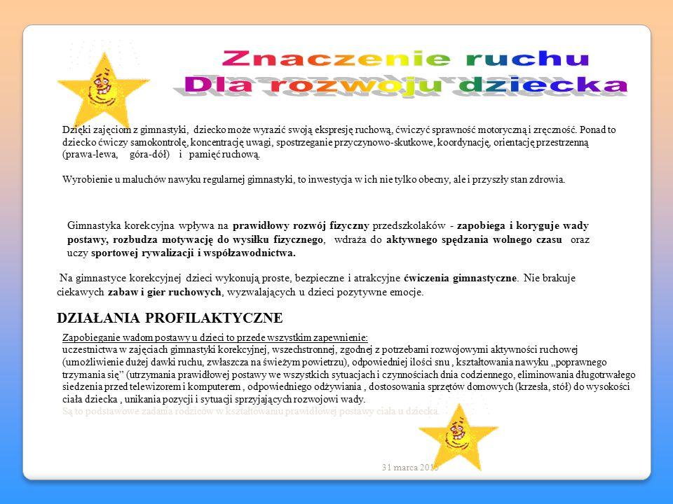 Prowadząca zajęcia: mgr Katarzyna Unierzyska 31 marca 2015