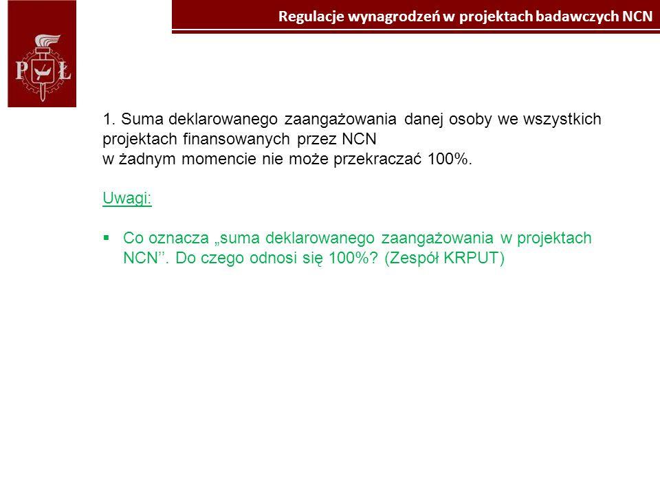 Kliknij, aby edytować style wzorca tekstu Kliknij, aby edytować styl Propozycja regulacji wynagrodzeń w projektach badawczych NCN (dla członków zespołu badawczego) 13.10.2014 Uwagi ogólne:  Regulacje odnośnie zatrudniania i wynagradzania w różnych projektach wymagają spojrzenia w szerszym kontekście, zwłaszcza wobec przewidywanych zmian wytycznych do programów operacyjnych w nowym okresie programowania, planu wprowadzenia zachęt do programu Horyzont pn.