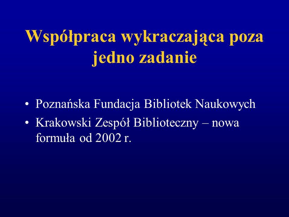 NUKat (stan na 16 września 2002) 2 biblioteki stosujące system Aleph 4 biblioteki stosujące system Horizon 1 biblioteka stosująca system Prolib 21 bib