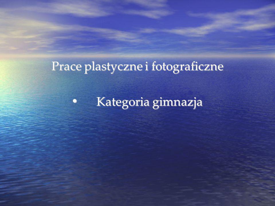 Prace plastyczne i fotograficzne Kategoria gimnazja Kategoria gimnazja