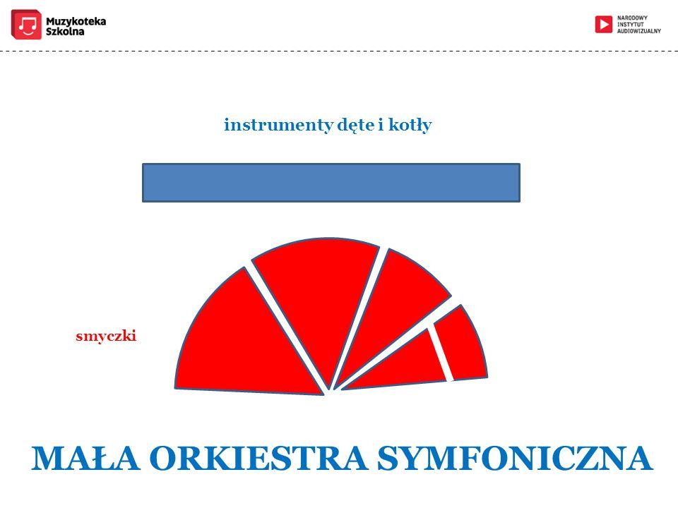 smyczki MAŁA ORKIESTRA SYMFONICZNA instrumenty dęte i kotły