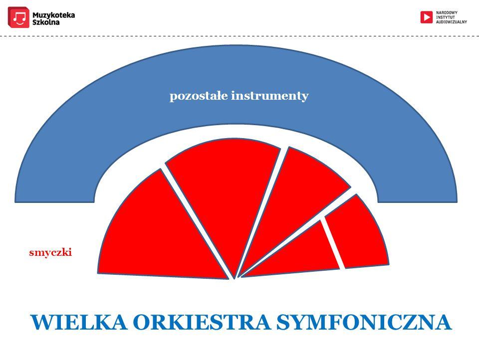 smyczki WIELKA ORKIESTRA SYMFONICZNA pozostałe instrumenty