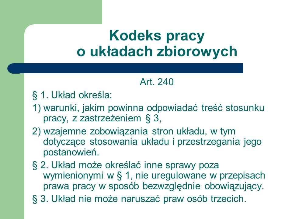 Kodeks pracy o układach zbiorowych Art.240 § 1.