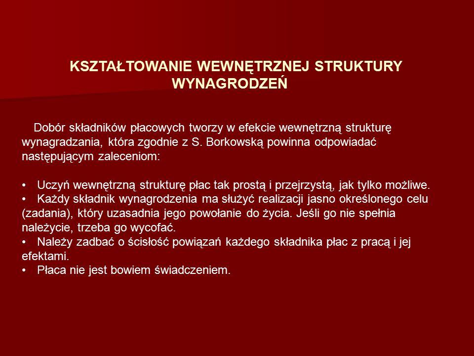 Również Z.Jacukowicz. podkreśla konieczność upraszczania struktury płac.