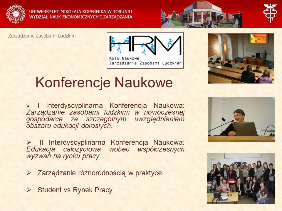 Zarządzanie Zasobami Ludzkimi  I Interdyscyplinarna Konferencja Naukowa: Zarządzanie zasobami ludzkimi w nowoczesnej gospodarce ze szczególnym uwzglę