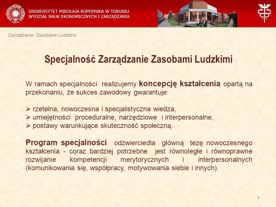 Zarządzanie Zasobami Ludzkimi Studia stacjonarne II stopnia Uchwała Rady Wydziału z dnia 20.06.2012 r.