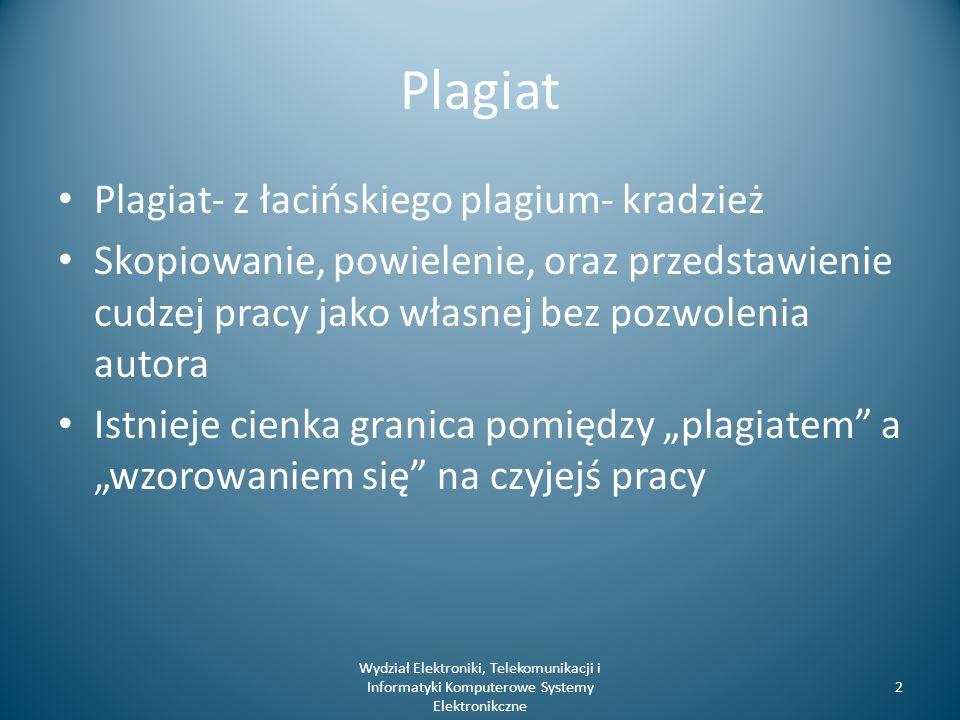 Plagiat a prawo Ustawa z dnia 4 lutego 1994 r.