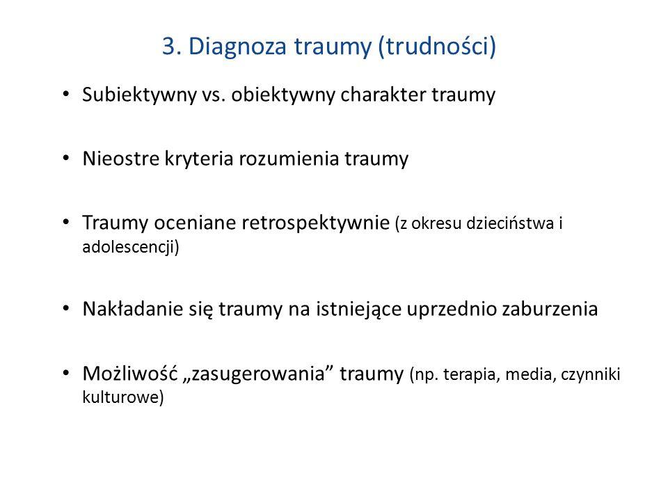 3.Diagnoza traumy (trudności) Subiektywny vs.